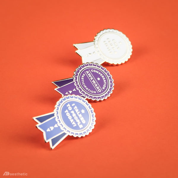 Self-Care Award Enamel Lapel Pins - Set of Three