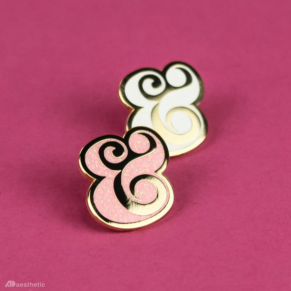 Glampersand Enamel Lapel Pins - Set of Two
