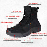 Shock Absorbing Tactical Outdoor Climbing Boots