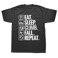 Eat Sleep Climb Fall Repeat Tee - MyClimbingGear.com