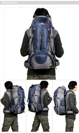 50L Waterproof Travel Hiking Climbing Backpack - MyClimbingGear.com