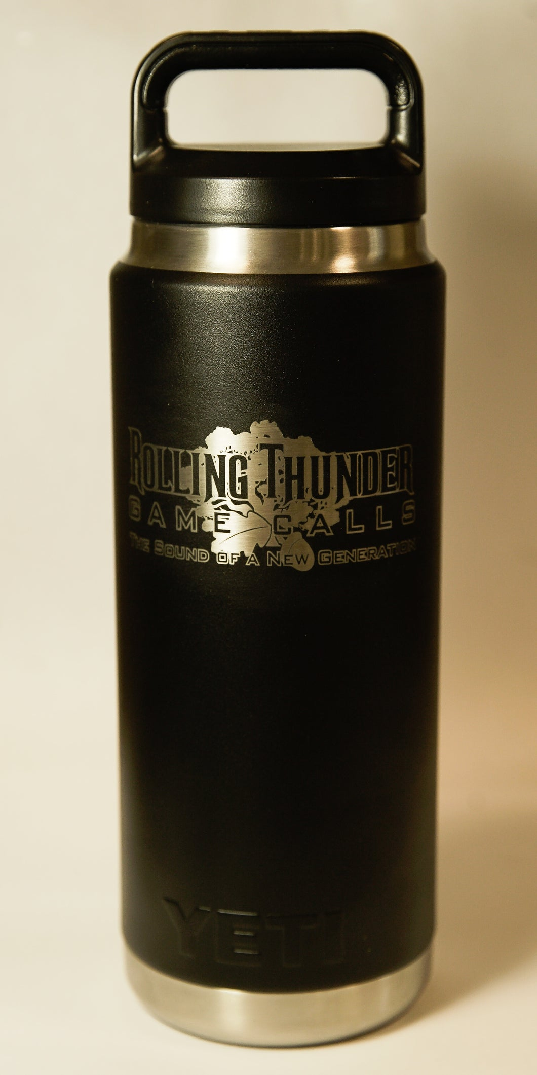 Yeti Rambler Bottle 26oz (Matte Black Cerakote)