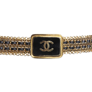 90's Chanel Gold Double Woven Belt