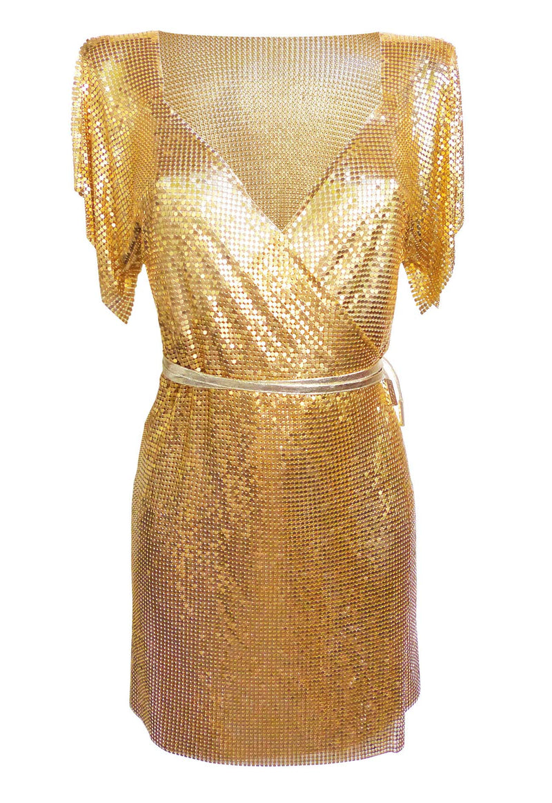 Gold Chain Wrap Dress