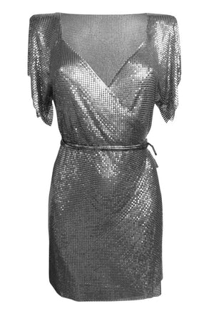 Gunmetal Chain Wrap Dress - Annie's Ibiza