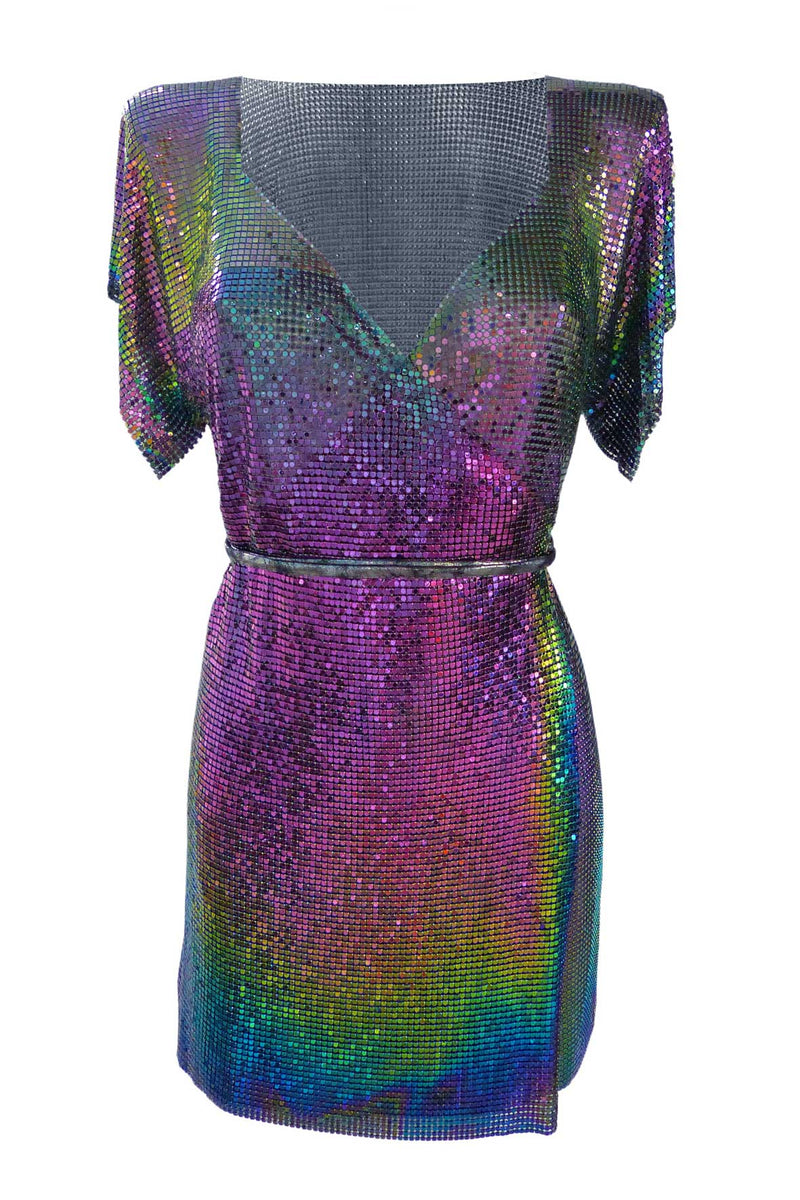 Iridescent Chain Wrap Dress - Annie's Ibiza