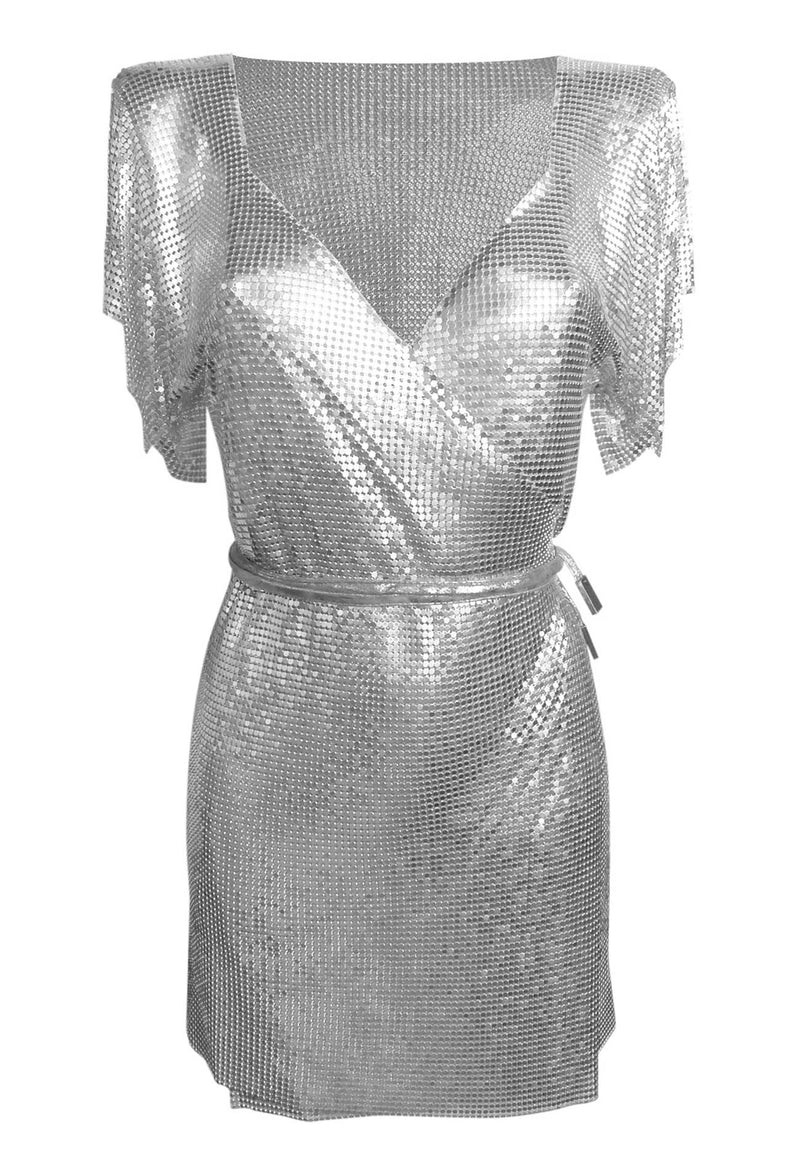 Silver Chain Wrap Dress