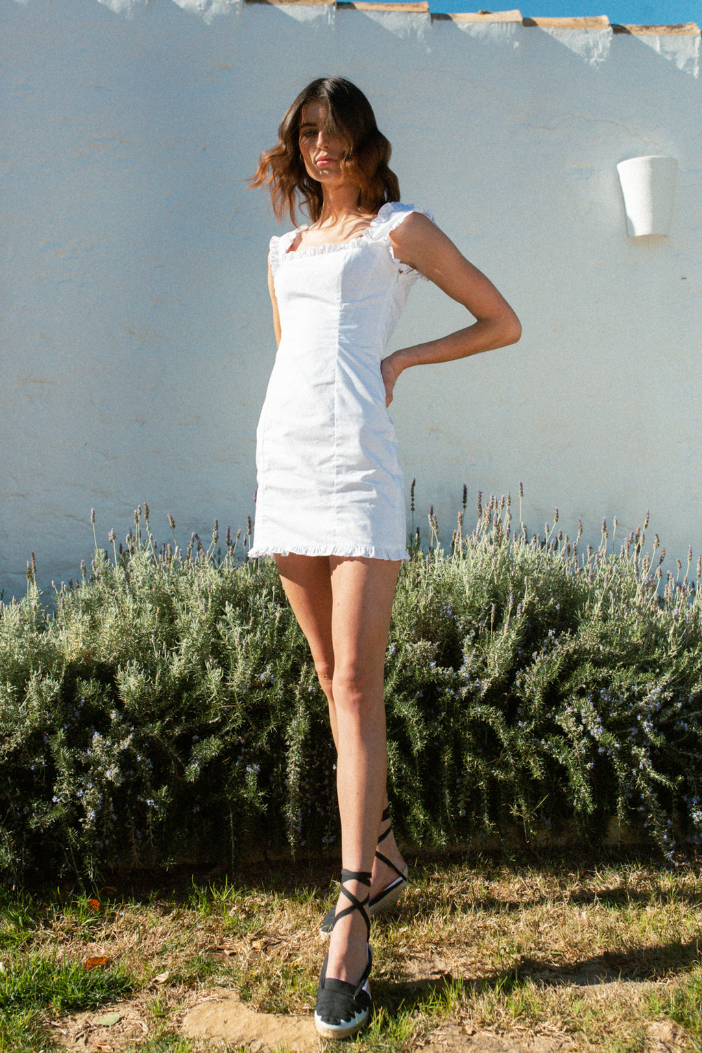 Bandana White Mini Dress - Annie's Ibiza