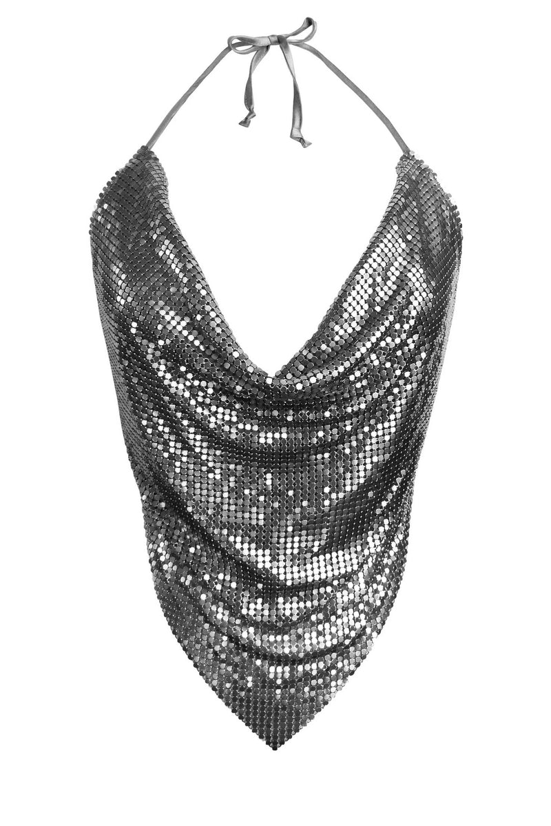 Gunmetal Backless Chainmail Top
