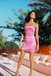 Frisco Hot Pink Mini Dress - Annie's Ibiza