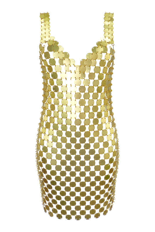 Gold Disco Dress