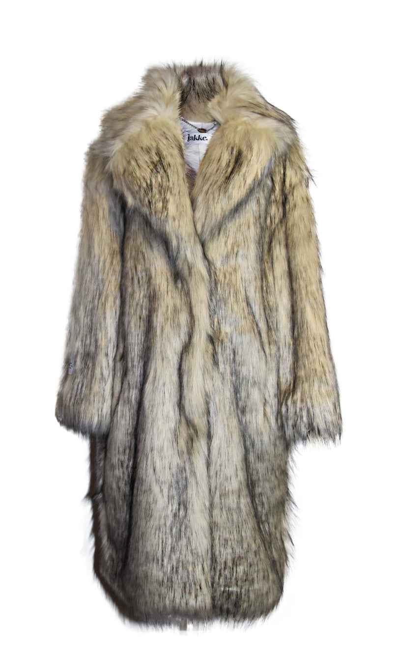 Winter White Faux Fox Coat - Annie's Ibiza