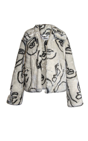 Faces Cropped Coat - Annie's Ibiza