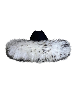 White and Black Cowgirl Hat - Annie's Ibiza