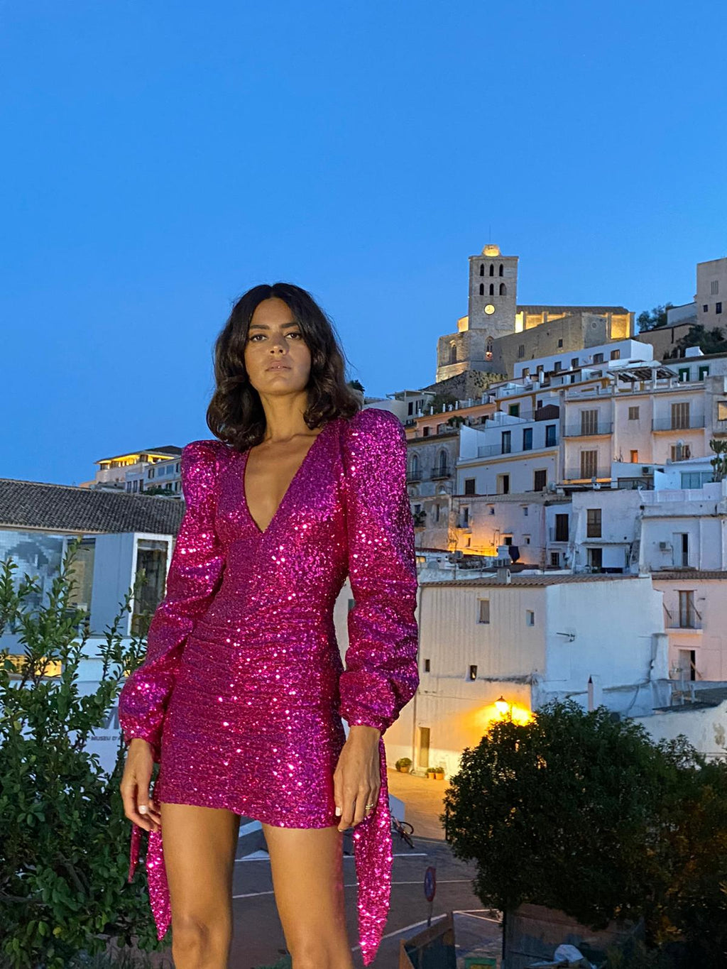 Hot Pink Sequin Dress - Annie's Ibiza