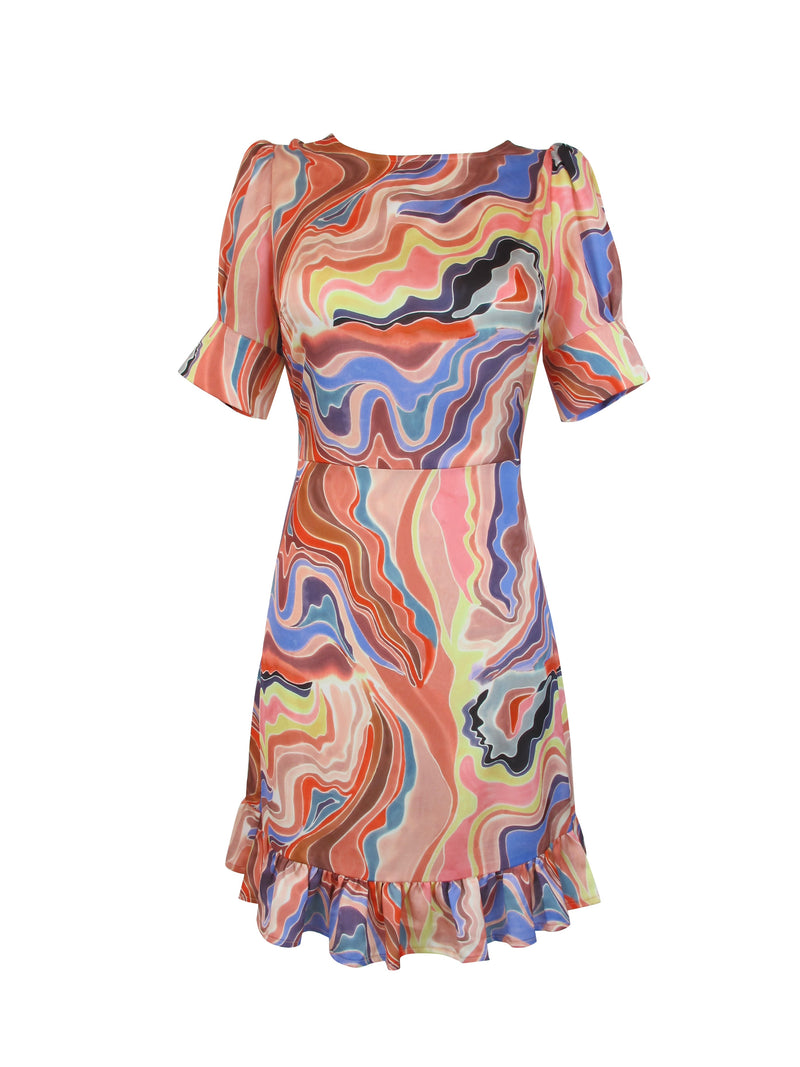 Multi Print Melodi Dress - Annie's Ibiza