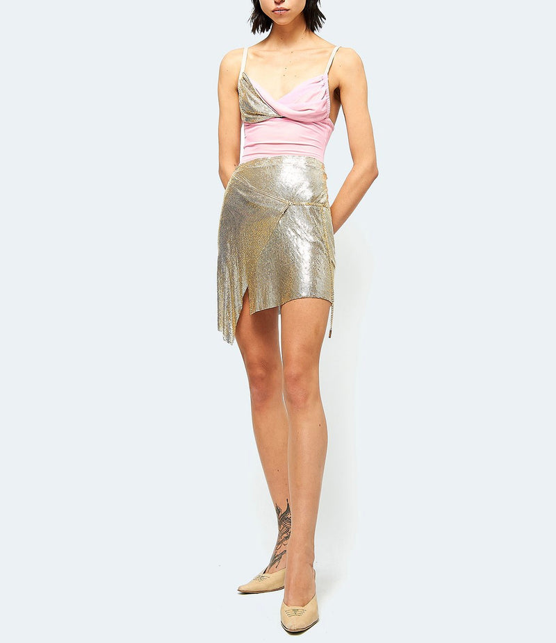 Mini Winona Wrap Skirt - Gold