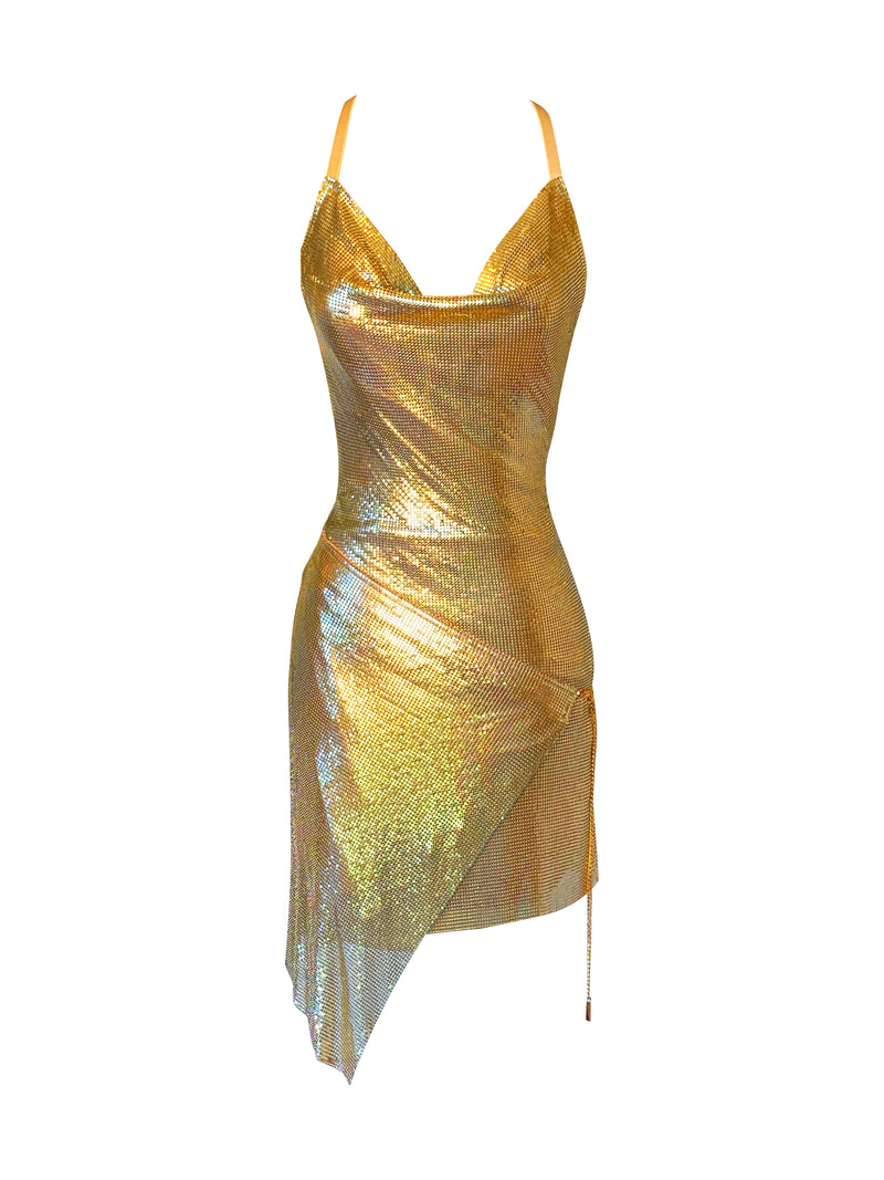 Frankie Dress - Gold - Annie's Ibiza