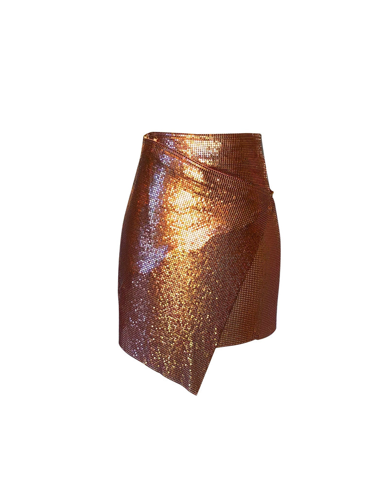 Mini Winona Wrap Skirt - Bronze - Annie's Ibiza