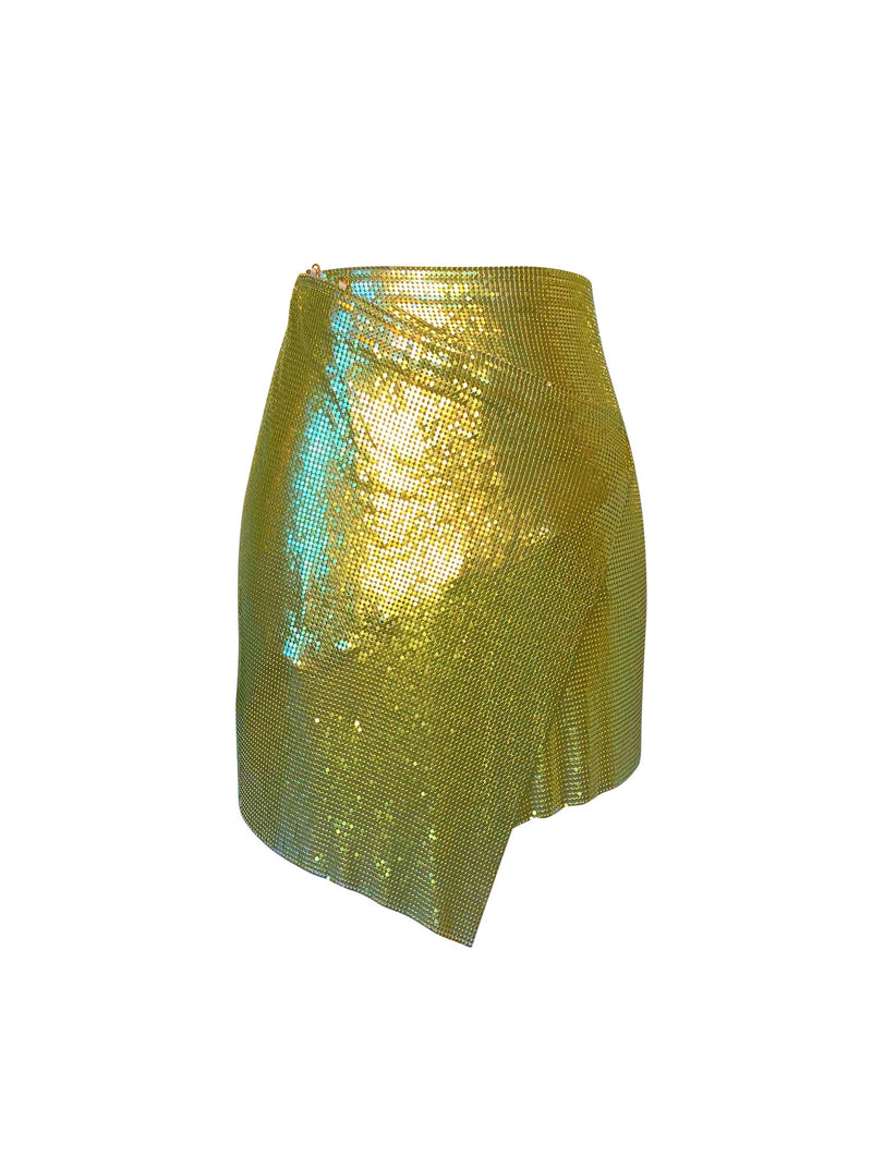 Mini Winona Wrap Skirt - Citrine