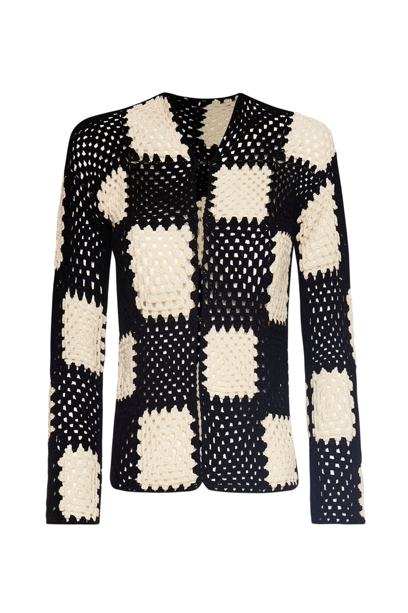 The Marta Sweater- Checkers - Annie's Ibiza