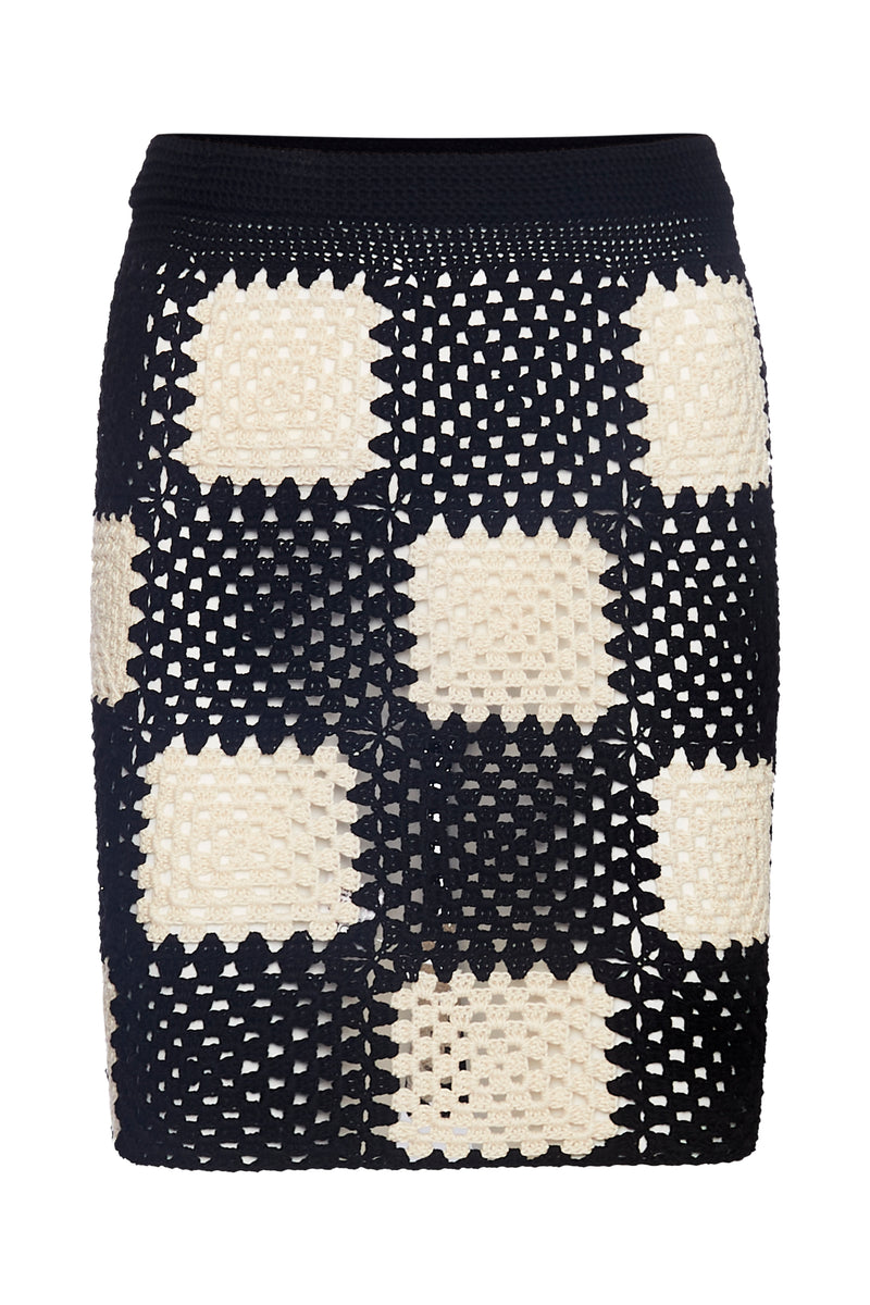 The Romy Mini Skirt- Checkers - Annie's Ibiza