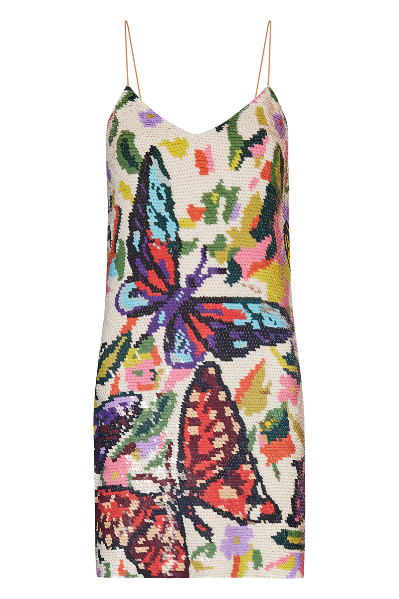 Sequin Butterfly Mini Dress - Annie's Ibiza
