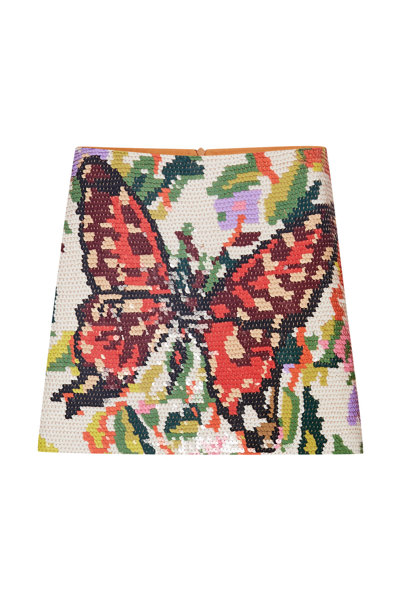 Sequin Butterfly Mini Skirt - Annie's Ibiza