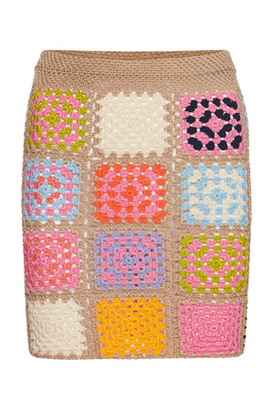The Romy Mini Skirt- Patchwork - Annie's Ibiza