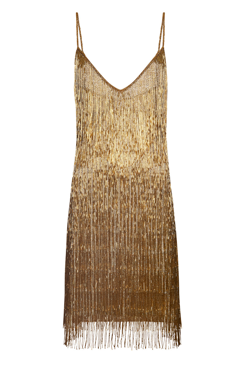 Athena Gold Dress - Annie's Ibiza