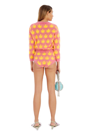 Pink & Yellow Leaves Pants - Annie's Ibiza