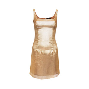 Limon Dress Gold Lurex - Annie's Ibiza