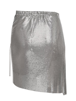 Winona Wrap Skirt Chrome Silver