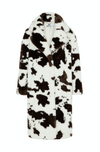 Katie Cow Print Long Coat - Annie's Ibiza