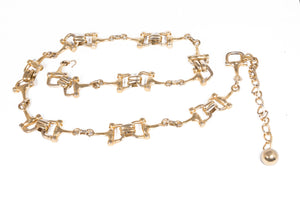 Gold 70's Horse Bit Chain Belt
