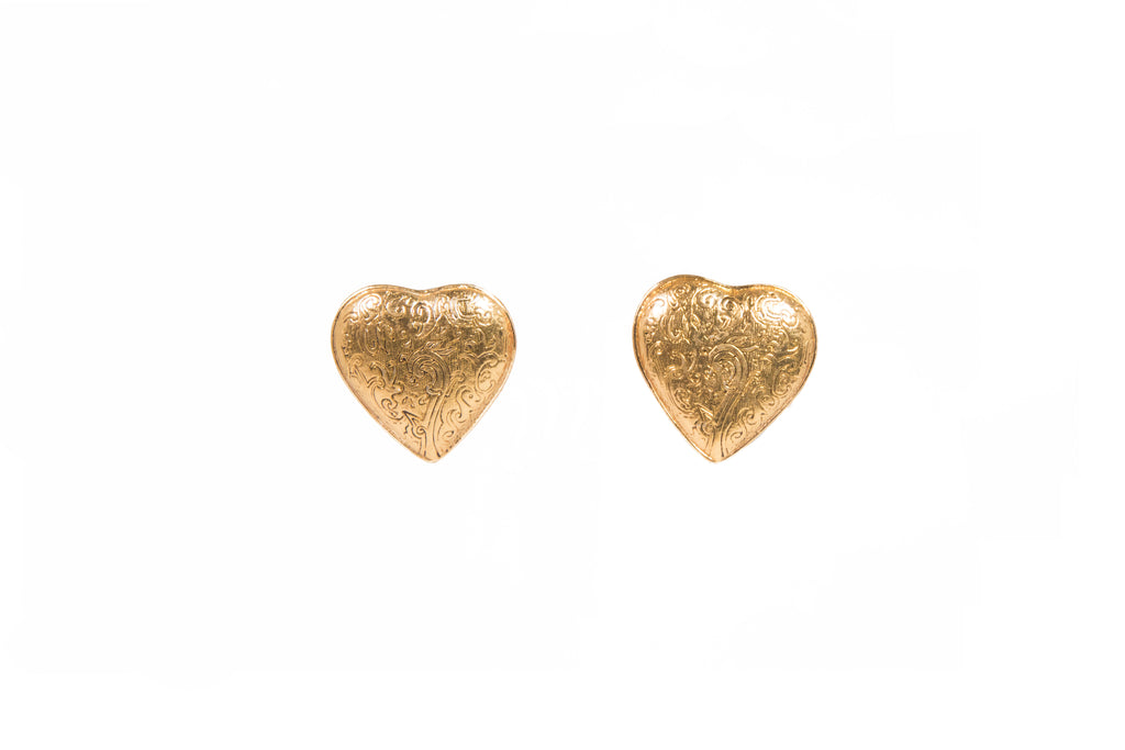 1980's Yves Saint Laurent Heart Earrings