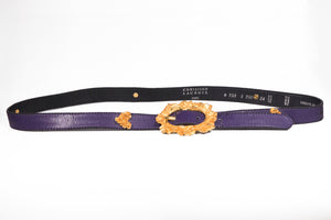80's Gold & Purple Lacroix Floral Belt