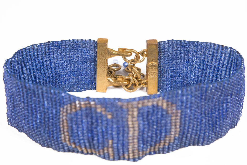 1970's Christian Dior Glass Beaded choker - Annie's Ibiza