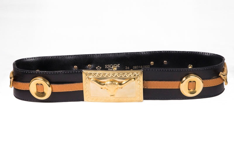 Escada Cowgirl Leather Belt