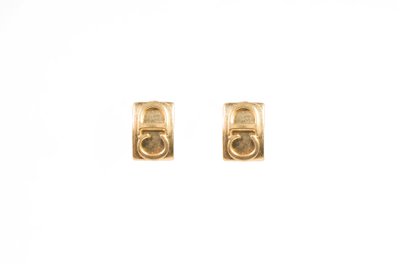 1980's Christian Dior CD Logo Earrings