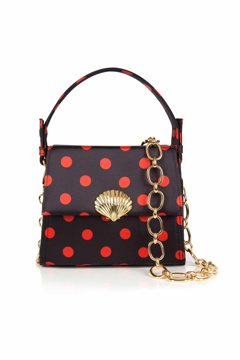 Jemima Red Polka Dot Mini Trapeze Hand Bag