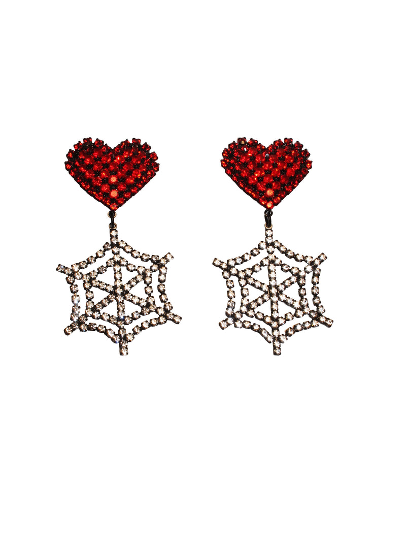 Ashley Williams Heart Cobweb Earrings - Annie's Ibiza