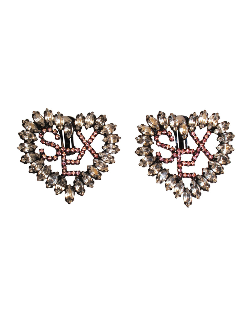 Ashley Williams Heart Sex Earrings - Annie's Ibiza