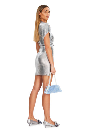 Silver Chain Wrap Dress - Annie's Ibiza