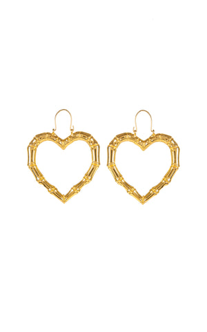 Misty gold plated heart earrings - Annie's Ibiza
