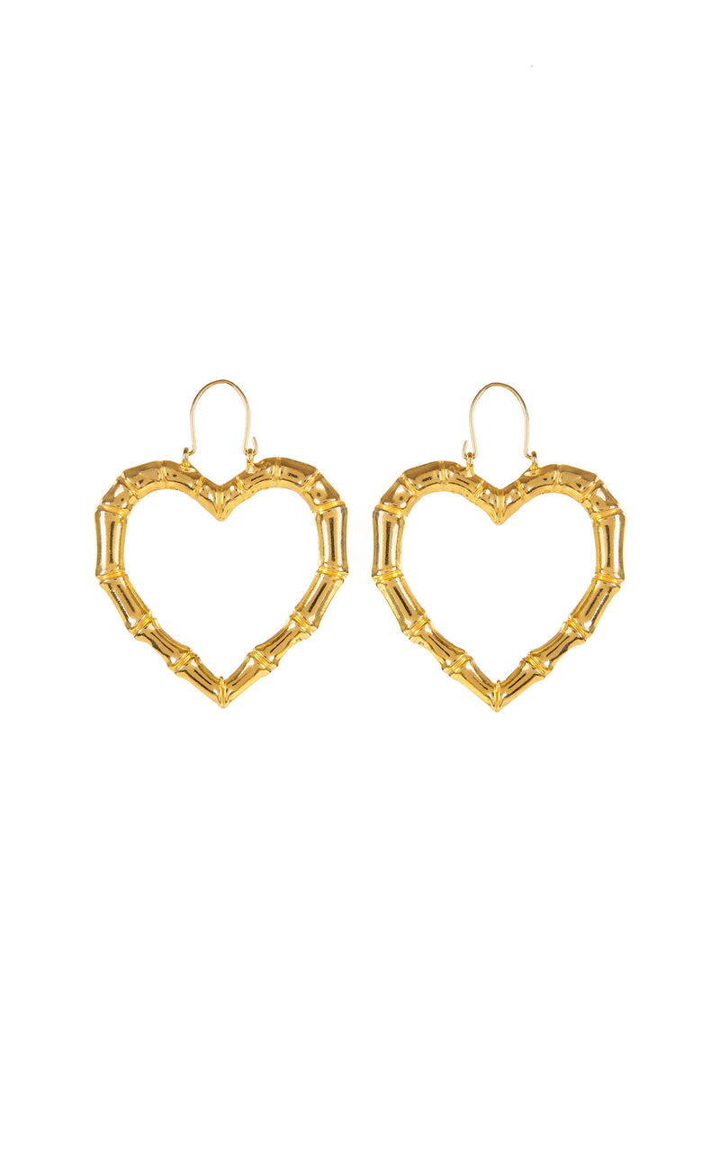 Misty gold plated heart earrings