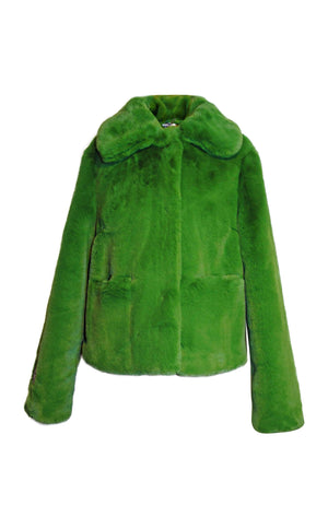 Tommy Cropped Green Coat - Annie's Ibiza