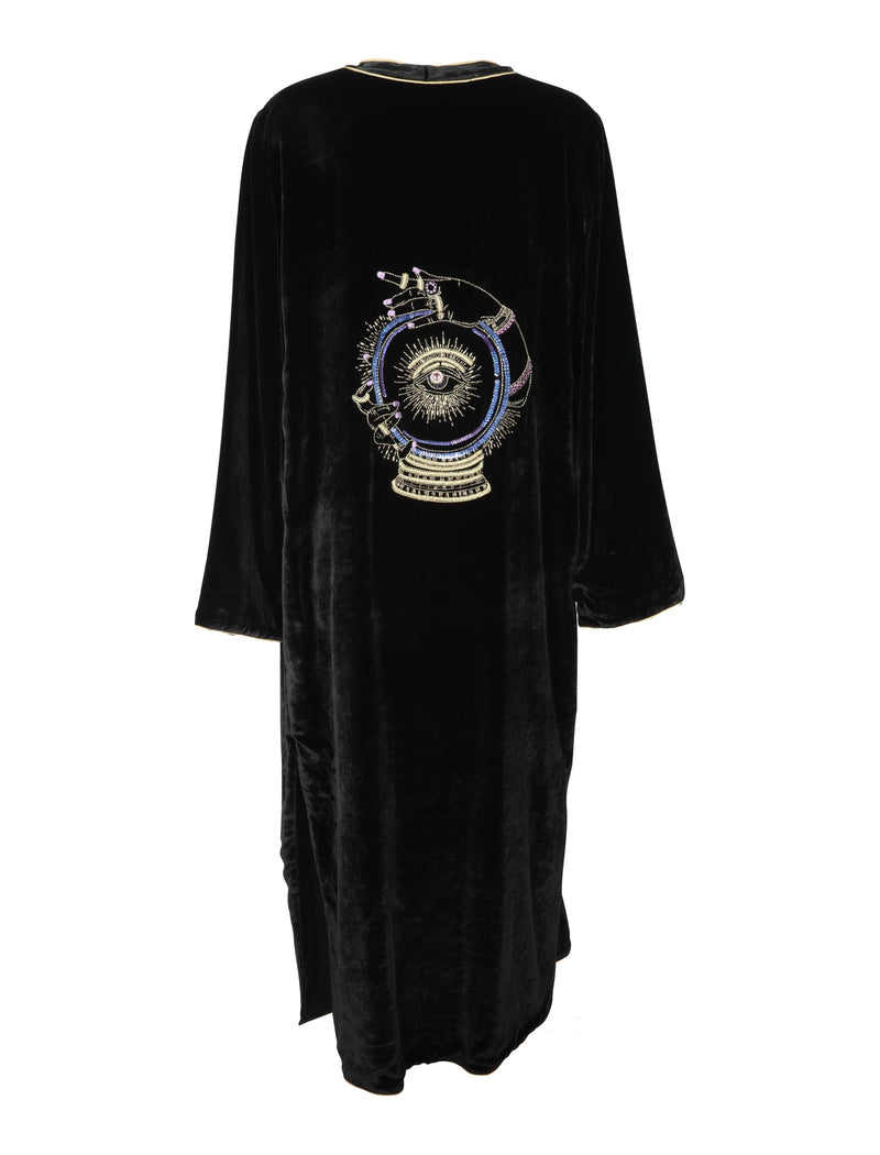 Crystal Ball Velvet Cape