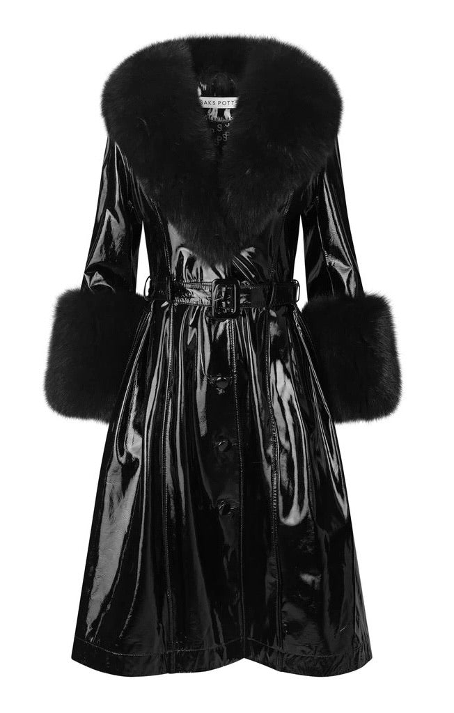Foxy Coat- Black Gloss - Annie's Ibiza