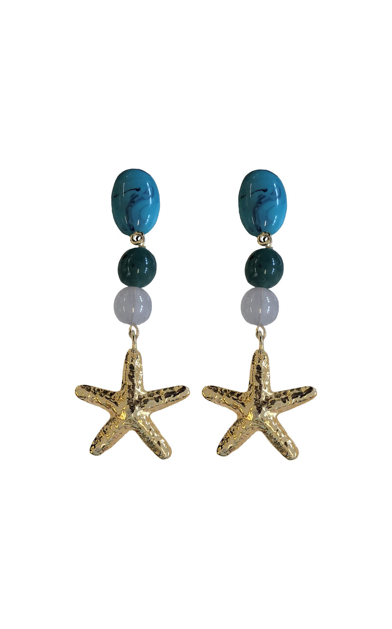 Dante Gold Starfish earrings